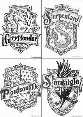 Blason Harry Potter Colorier Les Enfants Marnfozinecom