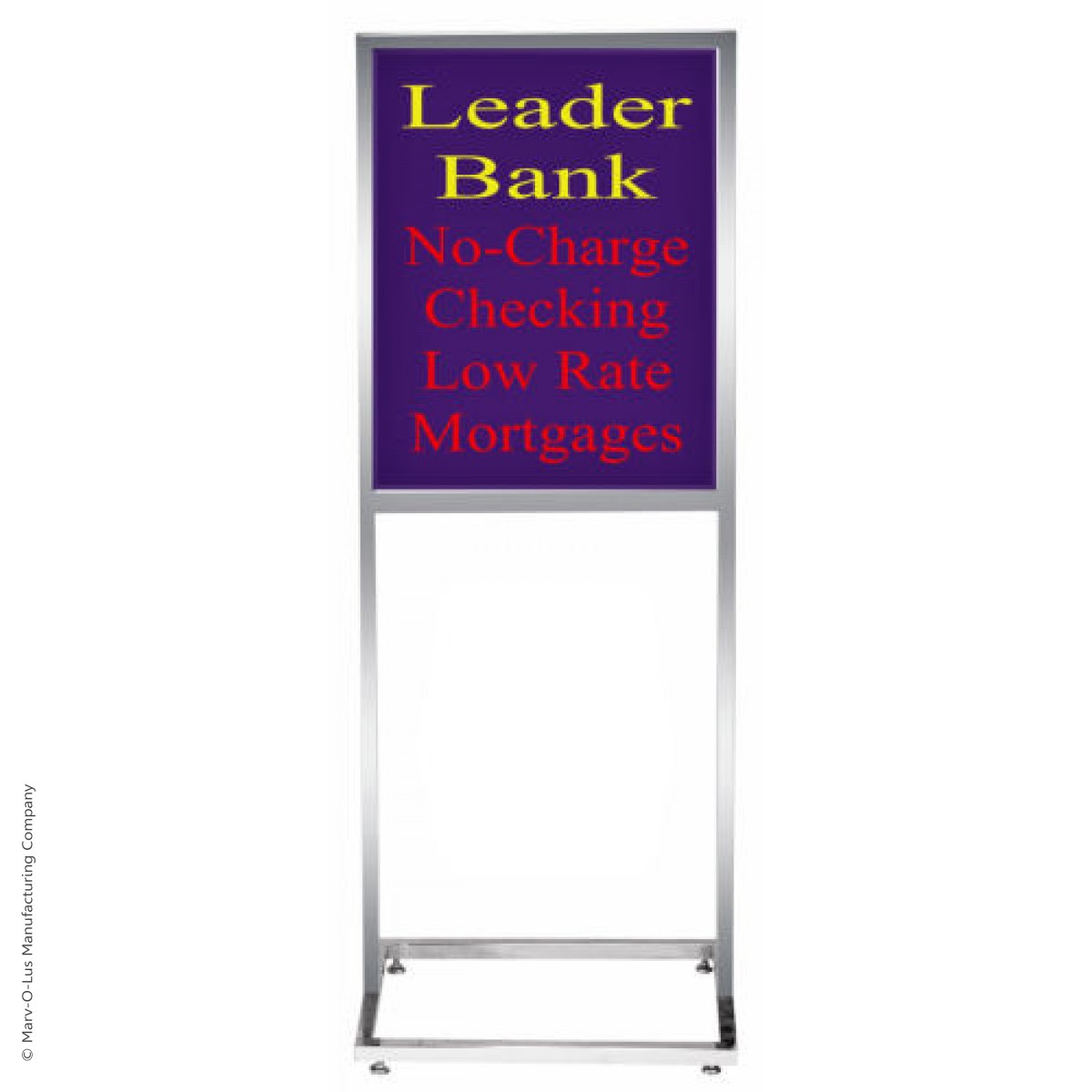 14 X 22 Deluxe Poster Frame Bulletin Sign Stand Chrome