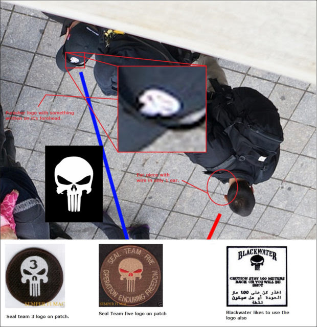 More Photos Show Private Military Security Running Drills at Boston Marathon The Craft Skull Logo