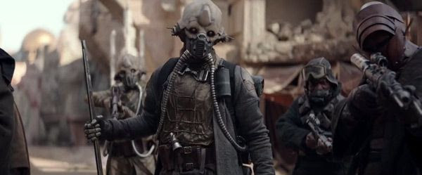 Edrio Two Tubes and his many cronies are some of the inhabitants who live on Jedha in ROGUE ONE: A STAR WARS STORY.