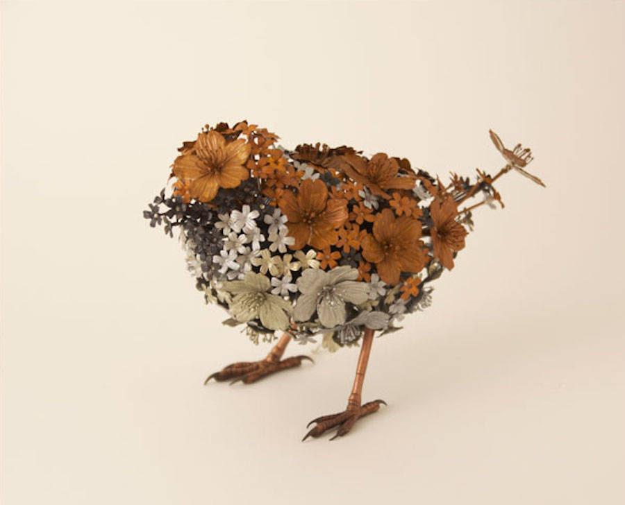 Poetiche sculture di animali di taiichiro yoshida for Sculture di fiori