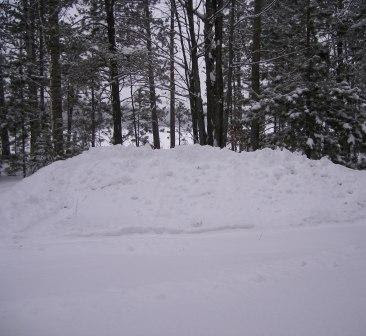 7' Pile of Snow at Cottage