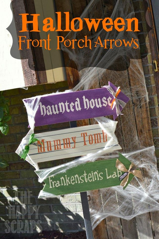 The Happy Scraps: Halloween Front Porch Arrows