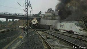 Descarrilamiento de tren en Santiago