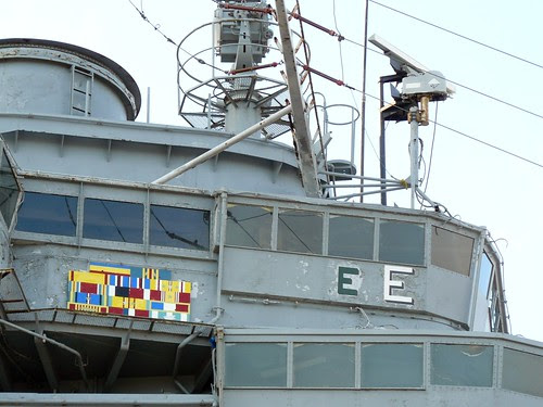 The Hornet's bridge, together with its ship's decorations