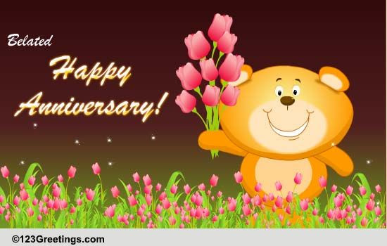 Belated Wedding Anniversary Free Belated Wishes Ecards Greeting