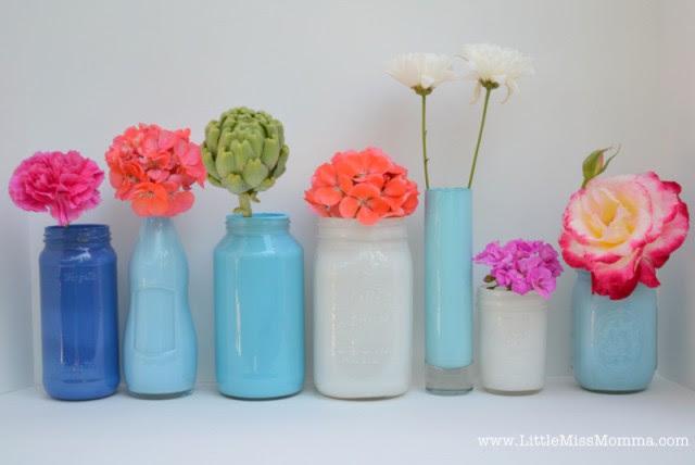 Artesanato com Vidro - Vasos Pintados Por Dentro