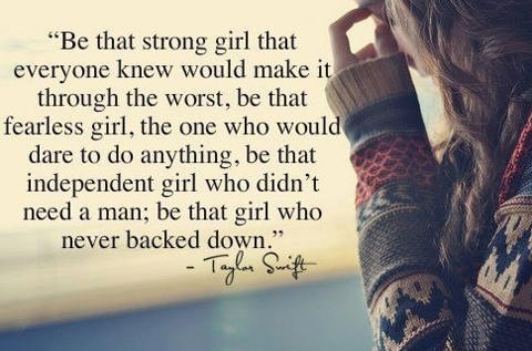Taylor Swift Quote About Love Inspirational Independent Girl