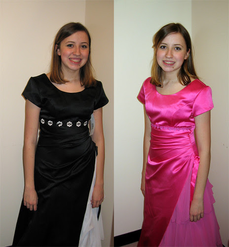 Erin in 2 Prom Dresses