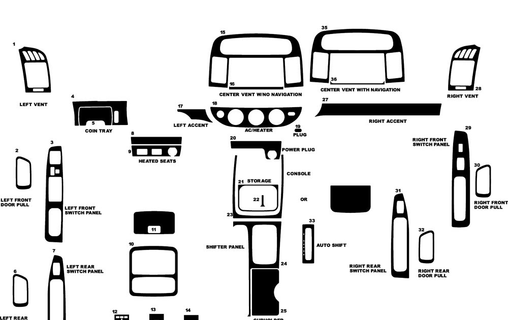 2012 Toyota Camry Parts Diagram