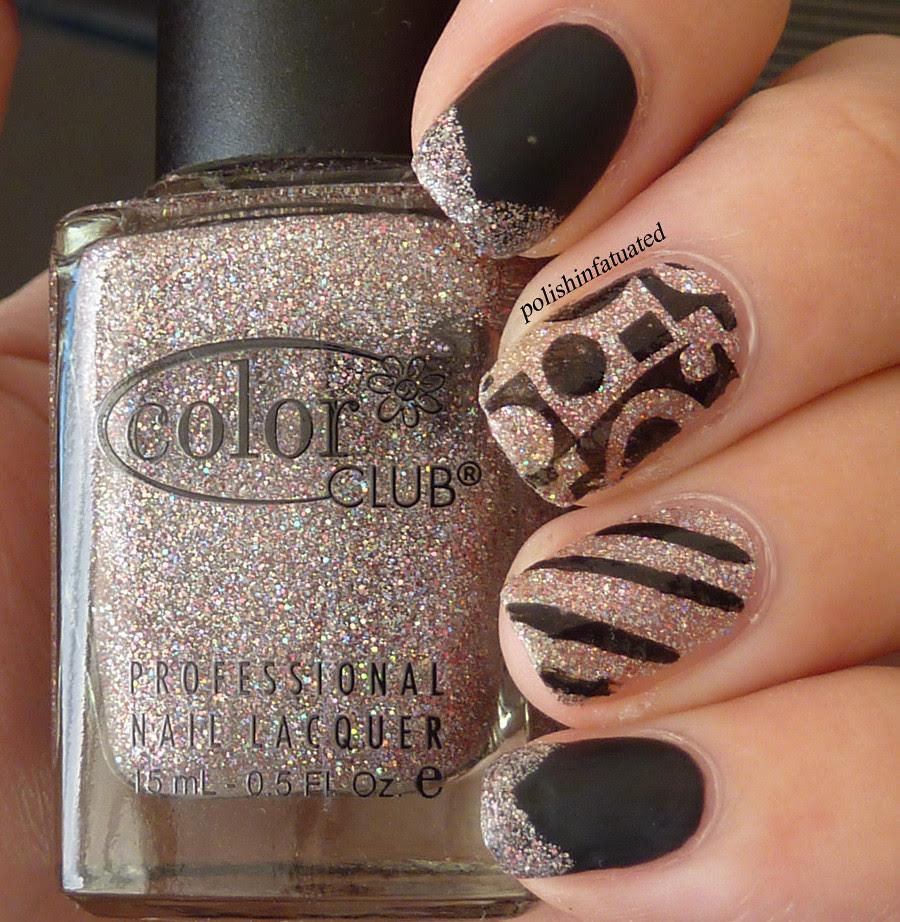 black, glitter & stamping3