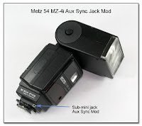 AS1034: Metz 54 MZ-4i Aux Sync Jack Mod