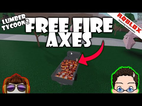 Lumber Tycoon 2 Roblox Axes Fire