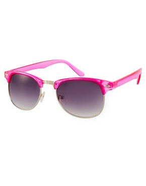 Image 1 of Jeepers Peepers Duke Fuscia Round Frame Sunglasses