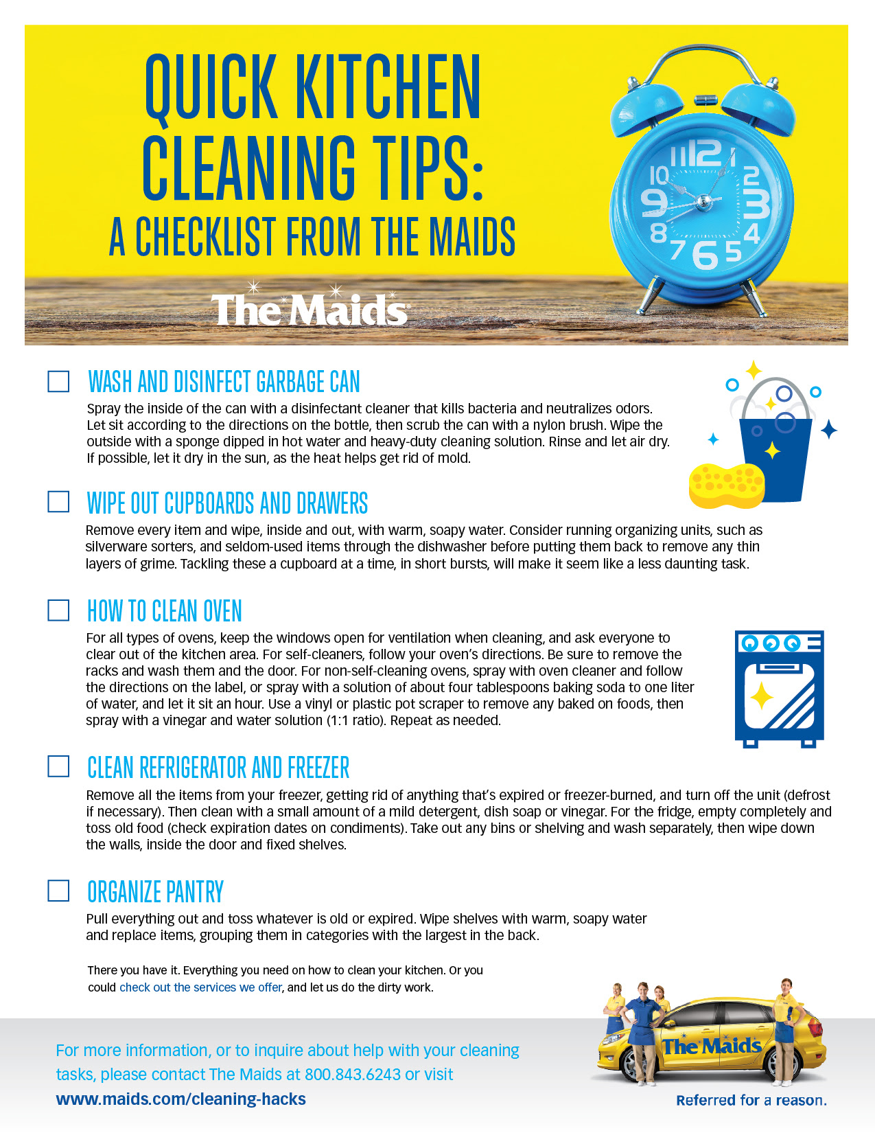 Kitchen Cleaning Checklist: Quick Kitchen Cleaning Tips ...