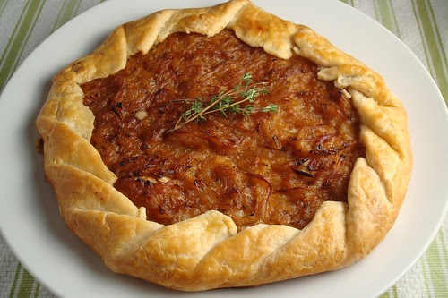 Free-Form Onion Tart