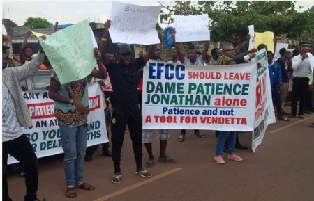 Pro-Patience Jonathan Protest In Enugu ( See Photos)