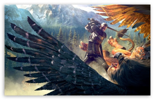 The Witcher 3 Wild Hunt Geralt And A Griffin Uhd Desktop