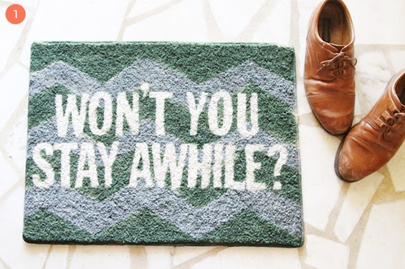 Roundup: 12 Fun DIY Doormat and Welcome Mat Projects! » Curbly