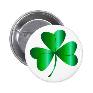 Button with Green Shamrock