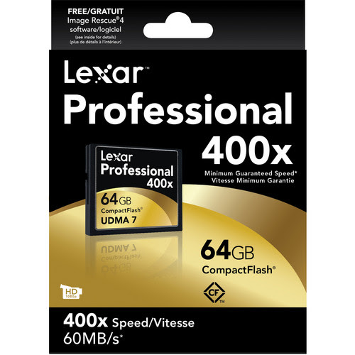 Lexar 64GB CompactFlash Memory Card On Sale