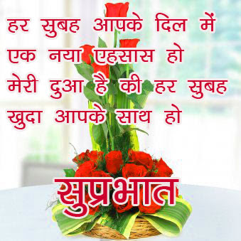 Flower Good morning  Images In Hindi Quotes