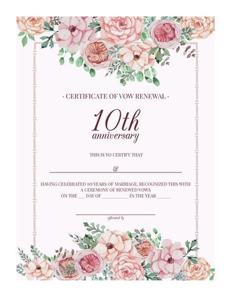 Free Printable Vintage Floral 10th Anniversary Vow Renewal