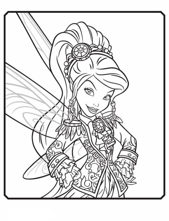Kids-n-fun.com | 14 coloring pages of Tinkelbell Pirate Fairy