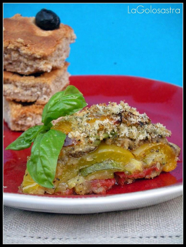 verdure estive con gratin al basilico