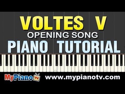 How to Play Voltes V Opening Song [Piano Tutorial @ 100% speed]
