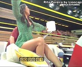 Rita Pereira sensual no concurso Apanha se Puderes