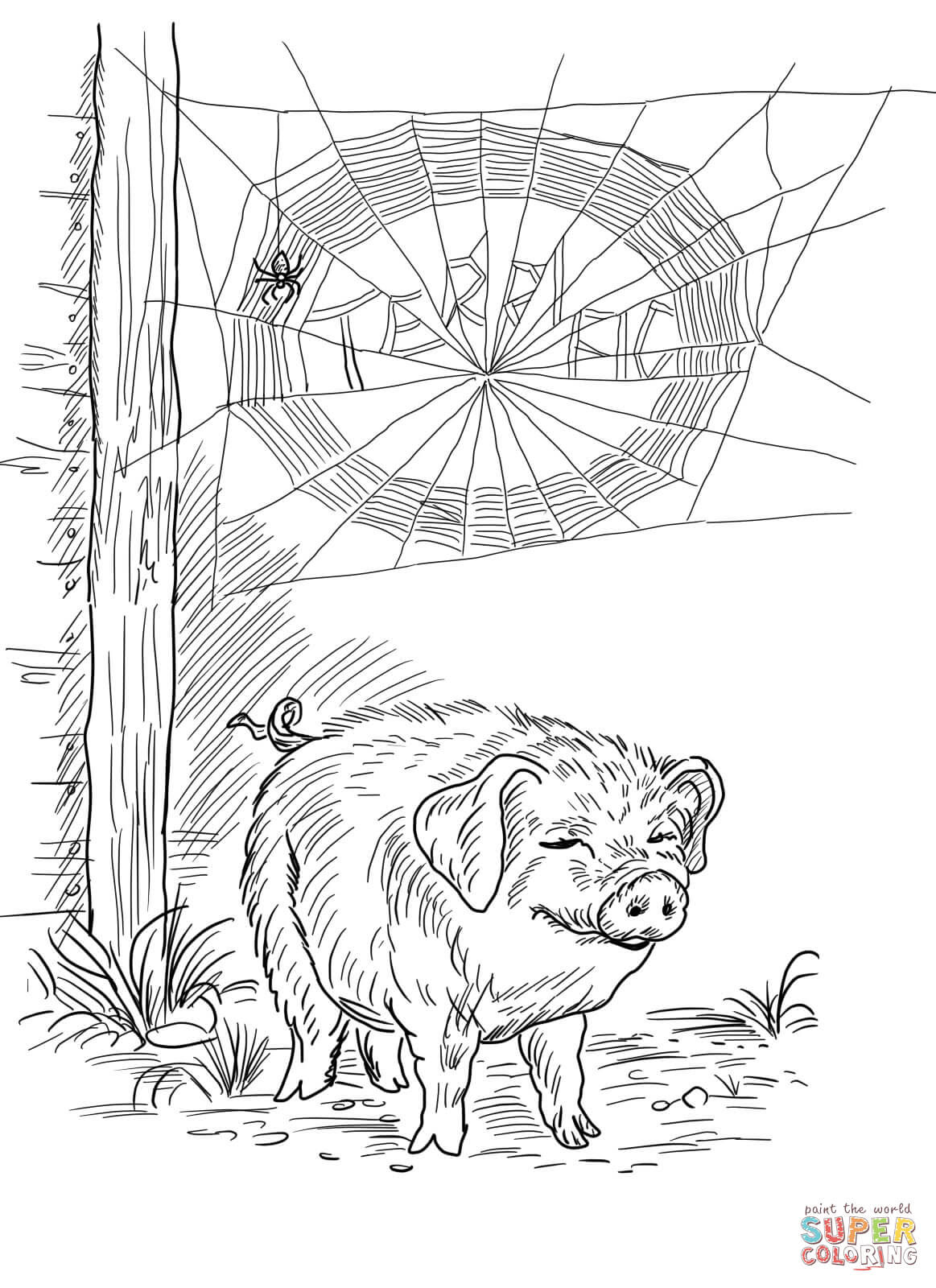 Charlotte's Web Coloring Page - Coloring Home