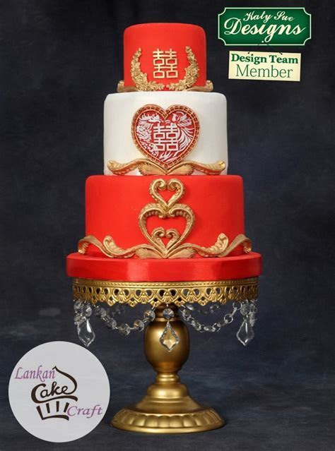 Chinese Double Happiness Silicone Mould   Red cakes