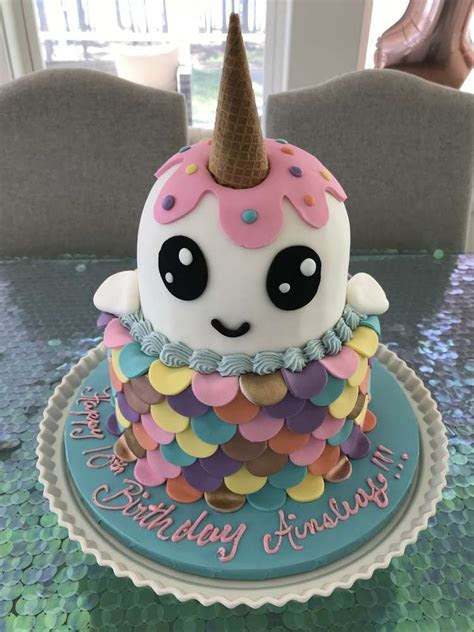 Narwhal  Unicorn of the Sea Birthday Party Ideas   Photo 1
