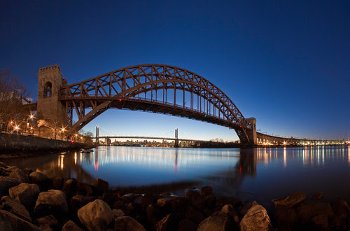 Hell Gate Bridge Pano