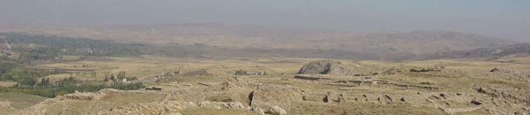 Aerial view of Hattusa (Bogazkoy)