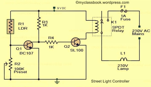 Street Light Controller Circuit Diagram