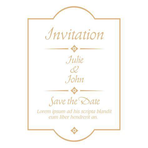 Wedding invitation badge 4   Transparent PNG & SVG vector