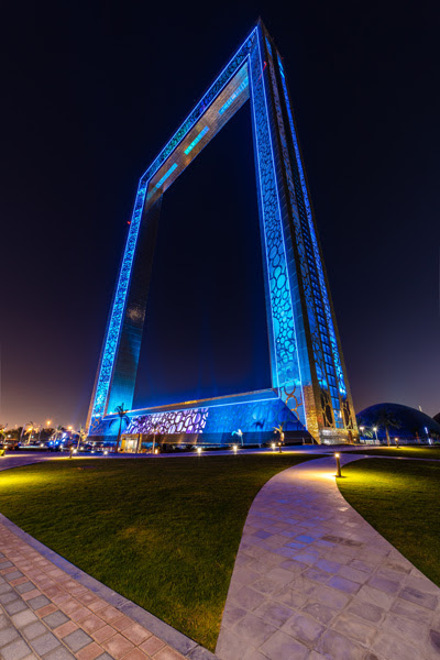 Signify Lights Up Dubai Frame Lighted
