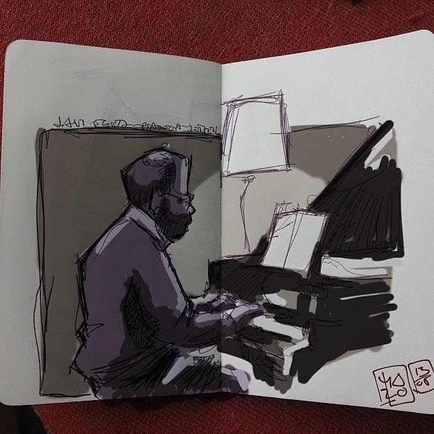 Piano concert sketch+ipad
