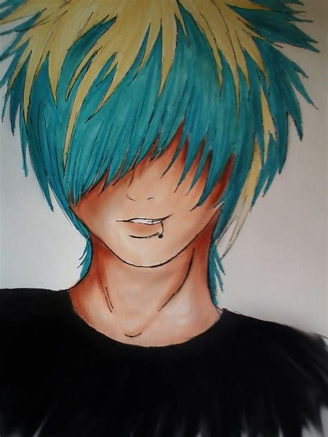 anime boy emo images  pinterest draw emo art