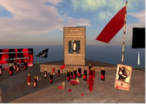 Second Life Monumnet to slain teenager in Greece