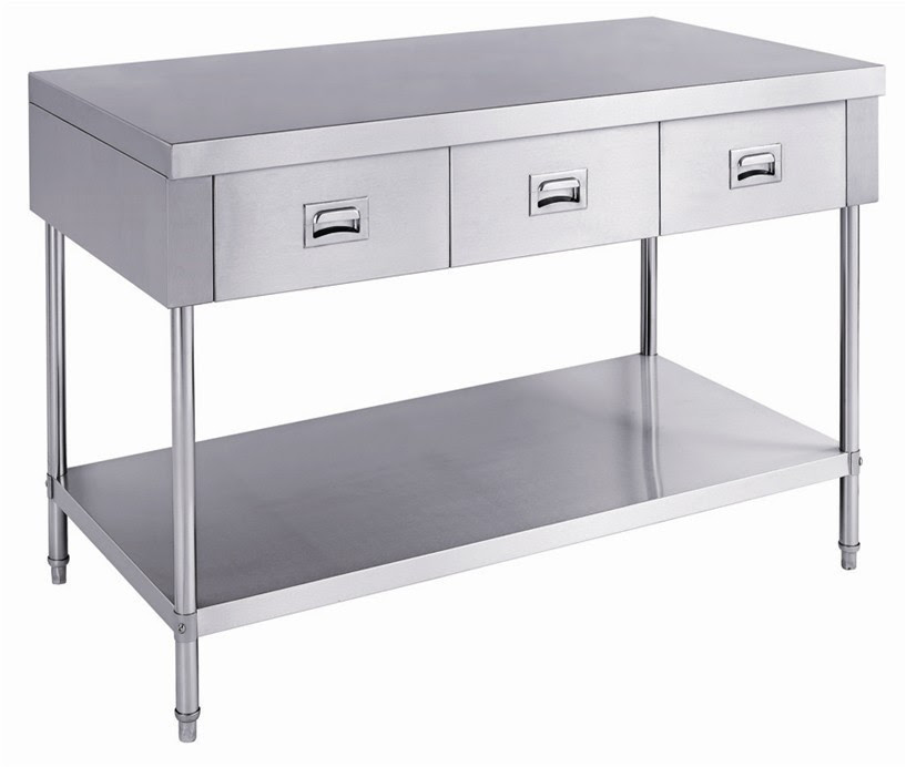 Heavy Duty Stainless Steel Kitchen Work Table With 4 ...