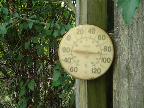 90F in my backyard (100F according to weather.com)