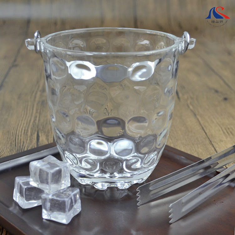 China Bulk Sale 08l Giant Wine Glass Ice Bucket With Tong Buy