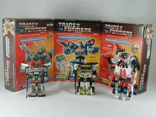 Transformers Silverstreak + Ricochet + Red Alert G1 Reissues