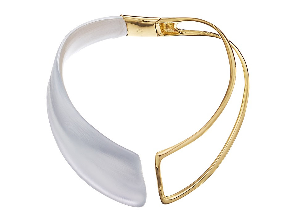 Alexis Bittar - Liquid Hinge Collar Necklace (Silver) Bracelet
