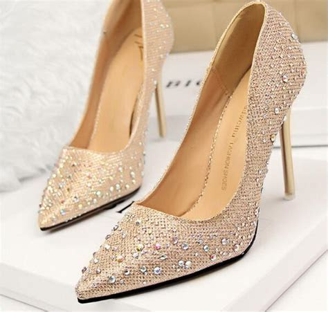 2015 Rhinestone Wedding Shoes Bridesmaid Shoes Bridal Pink