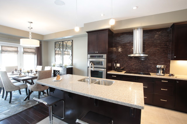 Model Home Kitchen and Dining Room Combination - modern - kitchen ...