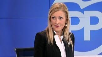 Cristina Cifuentes, aquest dimecres, en una entrevista a TVE